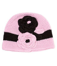 NEW Pink Brown Flower Hat  Small, 4-12 Months