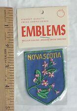 NIP Nova Scotia Wild Flowers Canadian Province Canada Souvenir Patch