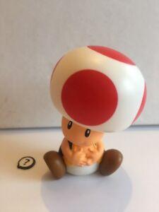 """Super Mario Bros Toad Figurine 3"""" High - Mcdonalds Mario Bros - VGC."""
