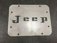 Jeep Wrangler JK Tailgate Spare Tire Delete Plate 2007-2016 Retro Jeep Plate