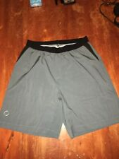 Ohmme Warrior I Mens Yoga Shorts Blue Gym Training  Short Eco Bluesign /Large