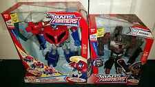 Optimus Prime Supreme + Megatron Leader Transformers Animated Hasbro 2007 MISP!