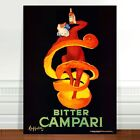 "Vintage French Liquor Poster Art ~ CANVAS PRINT 32x24"" Bitter Campari"