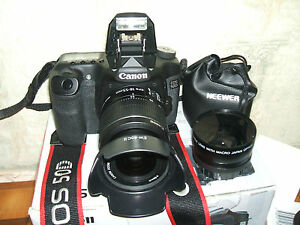 Canon EOS 50D 15.1 MP Digital SLR Camera -WITH THREE LENSES 18-55mm Lens)