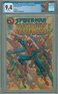 Spider-Man Maximum Clonage Alpha # 1 CGC 9.4 NM GOLD EDITION 1995 Acetate Cover