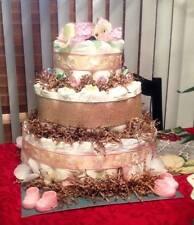 Burlap Diaper Cake (3 Tier)