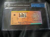 1984 LOS ANGELES SUMMER OLYMPICS Boxing Ticket Stub Mickey Mantle Beckett 10 JSA