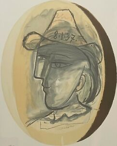 """PABLO PICASSO """"Tete"""" Limited Edition Lithograph - Marina Picasso Collection"""