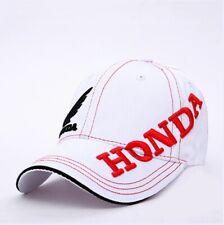 Honda Hat White Red Baseball Cap Car Wing Logo Racing Team Men Women 3D Polo