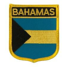 """BAHAMAS SHIELD FLAG EMBROIDERED PATCH - IRON-ON - NEW APPROX 2.5 x 2.75"""""""