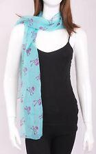 Fashion Shawl Women/Girls Baby Blue Chiffon Skull Scarf Wrap