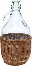 Glasballon Gallon Weinballon mit Geflochtenen Holzkorb Weinherstellung 5L TOP