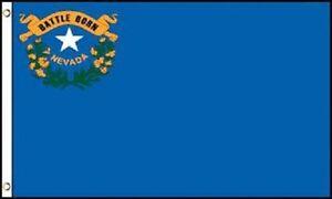 2x3 Nevada Flag 2'x3' House Banner grommets super polyester