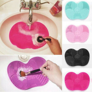 Silicone Makeup Brush Cleaner Cleaning Cosmetic Scrubber Board Mat Pad