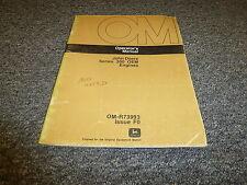 John Deere 4219D 300 Series Engines Owner Operator Manual User Guide Omr73993