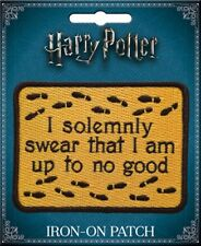 Harry Potter I Solemnly Swear Phrase Logo Embroidered Patch NEW UNUSED ATB