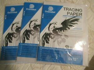 Dowsabel Tracing Paper 53 GSM Translucent Vellum 240 Sheets 9x12
