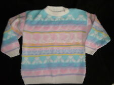 1980's VINTAGE Pastel Fairy Kei Kawaii Sweater Ducks Hearts 80's