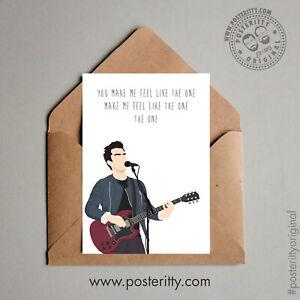 KELLY JONES Stereophonics Dakota Minimal Posteritty Lyrics Valentines Day Card