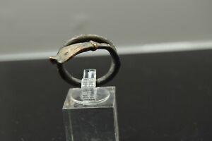 Roman Bronze Snake-Shaped Ring