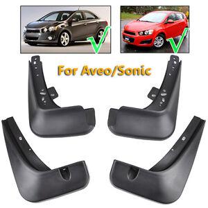 Set Mud Flaps Fit For Chevrolet Sonic 2012~2016 Sedan Hatchback Splash Guard