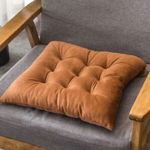 Crystal Velvet Chair Cushion Plush Cushion Soft Solid Color Thicken Chair Pads