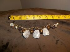 CHICO'S ADDITIONS GOLD AND BROWN STONE BEADED BRACELET, NEW WITH OUT TAGS SHARP