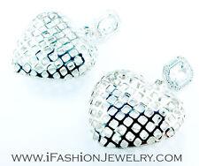 Dangle Metal Earrings Fashion Jewelry Gift Hip Big Silver Tone Heart Hollow Drop
