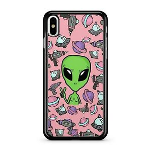 Extraterrestrial Space Alien UFO Spaceships Galaxies Pattern 2D Phone Case Cover