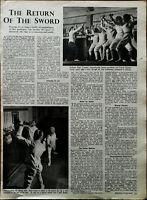 The Return of the Sword, Professor Roger Crosnier Vintage Fencing Article 1949