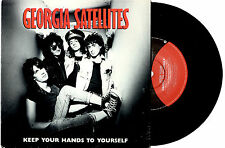"""GEORGIA SATELLITES - KEEP YOUR HANDS TO YOURSELF - PROMO 7""""45 RECORD PICSLV 1986"""