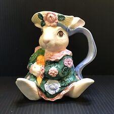 Fitz & Floyd Bloomers Rabbit Bunny Creamer 1991 Vintage Figural