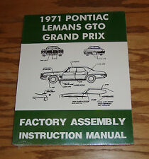 1971 Pontiac LeMans GTO Grand Prix Factory Assembly Instruction Manual 71
