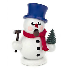 Small Made In Germany Wooden Snowman Carrying Tree Incese Burner Smoker