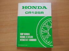 Officina MANUALE NEGOZIO MANUAL HONDA CR 125 R-Modello 1986 Manuel D 'Atelier