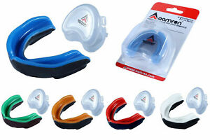 Aamron® Gel Gum Shield & Case Mouth Guard Boxing Teeth Grinding MMA Rugby GSG101