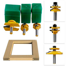 3Pcs 1/2'' Shank Rail & Stile Ogee Blade Cutter Panel Cabinet Router Bits Set