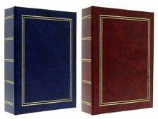"""Burgundy / Navy Blue Slip In Photo Album Set 2 x 300 6"""" x 4"""" Photos Gift"""
