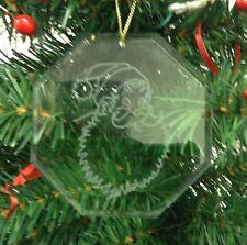 Personalized Crystal Glass Ornament Santa Christmas Custom Gift