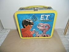 1982 Vintage E.T. The Extra Terrestrial Metal Lunchbox w/Thermos Aladdin