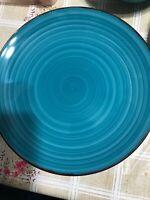 4 royal norfolk blue dinner plates 10.5''