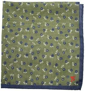 Isaia Pocket Square Green Geometric 06PS0159 $140