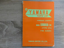 Yamaha Parties List Catalogue de pièces de rechange Chappy LB80IIA Type 1F3