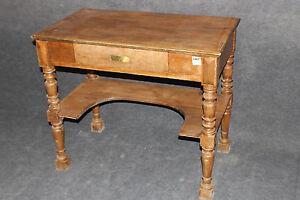 Damen Schreibtisch Tisch Beistelltisch massiv Eiche  #2185