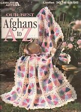 USED OUR BEST AFGHANS A TO Z CROCHET PATTERN BOOK