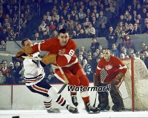 NHL 1962 Detroit Red Wings Floyd Smith & Terry Sawchuk Color 8 X 10 Photo Pic