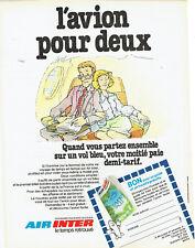 Publicité Advertising 028  1978    Air Inter compagnie aérienne   vol bleu guide