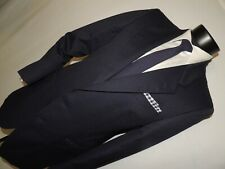 Yves Saint Laurent men's Vintage Blue stripe slim  jacket coat 40 long