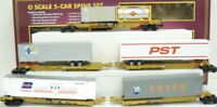 ✅MTH PREMIER TTUX 5 CAR SPINE SET! FITS LIONEL K-LINE TTX DOUBLE HUSKY STACK