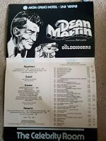 Celebrity Room Menu  MGM Grand Las Vegas 70's. DEAN MARTIN vintage vegas